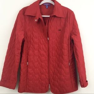 Red Escada Sport Quilted Full Zipper Jacket Size40